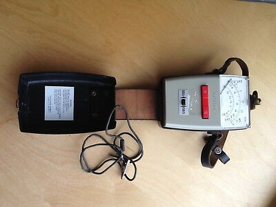 Vintage METROHM circuit tester complete with leather case