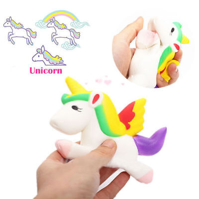 Hot Cute Unicorn Squishy Squeeze Relieve Stress Slow Rising Kid Toy Decor Gifts