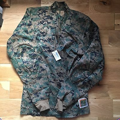 USMC , Marpat Woodland Inclement Weather Shirt . Rare. Genuine Issue.M/L.