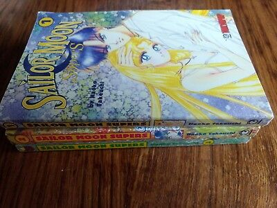 Sailor Moon SuperS Manga Series, Volumes 1, 2, 3 by Naoko Takeuchi