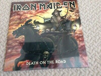 IRON MAIDEN Death On The Road DOUBLE LP VINYL  Parlophone 2017 16 Track