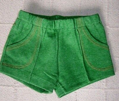 Vintage Stretch Shorts - Age 1-2 Approx - Green Marl - Danish - New.