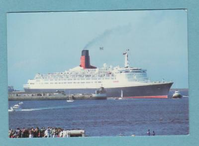 Cunard Line QUEEN ELIZABETH 2 at Cherbourg France on the 28 May, 1993