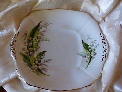 adderley china Cake Plate Lily of the Valley pattern