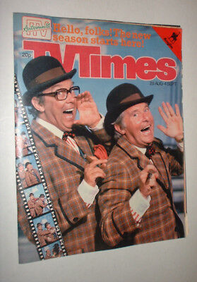 ANGLIA 29/8 1981 TV TIMES magazine TELEVISION MORECAMBE & WISE
