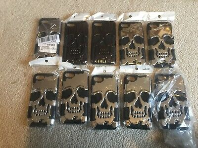 Wholesale Job Lot of 10 Silver & Black Skull iPhone 6/6s Phone Cases
