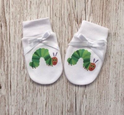 The Hungry Caterpillar Inspired Baby Scratch Mitts/mittens