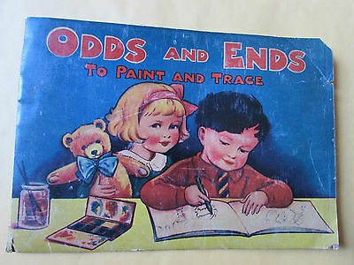 Children's Tracing Book Odds & Ends to Paint & Trace Old School Student Vintage