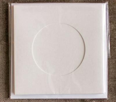Round aperture square cards - White Shimmer (Pack of 5)