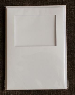 Square Aperture A6 Cards - White (Pack Of 5)