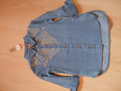 Bnwt River Island Mini Denim Shirt With Stud Decs     Age  18 - 24 Months