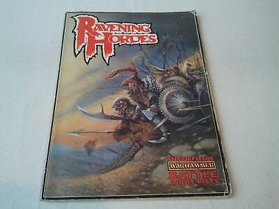 RAVENING HORDES Warhammer Fantasy Battle 2nd Edition ARMY LISTS 1987 Oldhammer