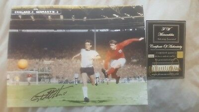Geoff Hurst Hand Signed Photo with COA