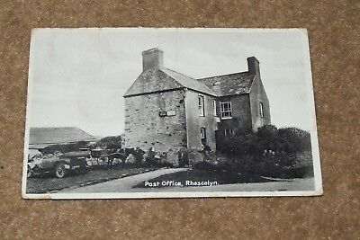 RHOSCOLYN Post Office c1920 Anglesey real photo vintage postcard