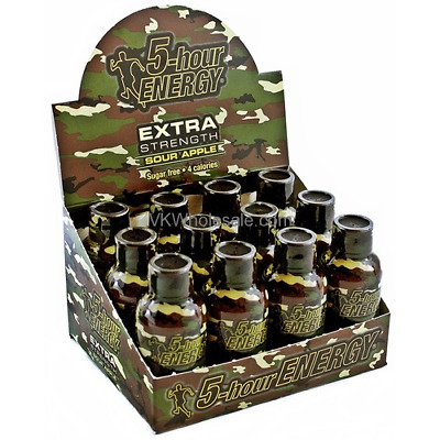 Extra Strength 5 Hour Energy Shot  - Sour Apple - Box of 12 - now from SIR BBQ