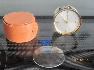 CYMA Amic vintage travel clock with case