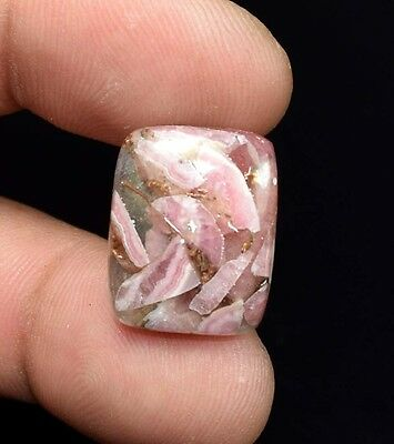 Excellent !  13.40 Cts. Natural Copper Rhodochrosite Cushion Cab For  Pendant