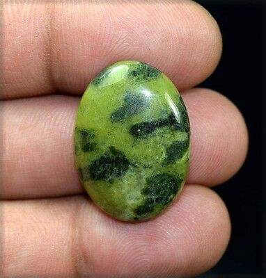 23.50 Cts. 100 % Natural  Canadian Jade  Oval Cabochon Untreated Loose Gemstones