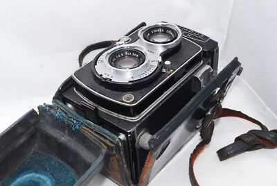 (4584) Olympus Flex TLR Camera D.zuiko 75mm F3.5 Lens from JAPAN, NICE!! *AS-IS*