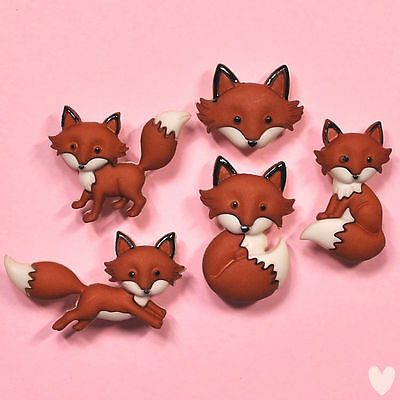 DRESS IT UP Buttons Out Foxed 8293 - Embellishments Fox