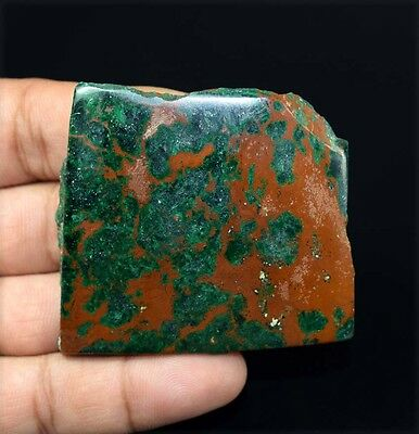 264.20 Cts.100 % Natural Huge  Malachite Chrysocolla Rough Slice For Cabochons