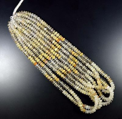 5 Mm - 6 Mm 100% Natural Excellent Golden Rutile Unheated Beads For Necklace