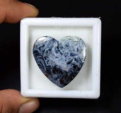 35.85 Cts. 100% Natural Chatoyant Pietersite Heart Cabochon Untreated Loose Gems