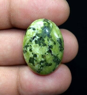 28.65 Cts. 100 % Natural  Canadian Jade  Oval Cabochon Untreated Loose Gemstones