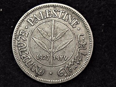 Pleasing Higher Grade Palestine 1927 Silver 50 Mils