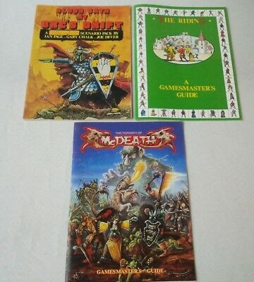 BLOOD ON THE STREETS, ORC'S DRIFT & McDEATH Rulebooks 1985 - Warhammer Oldhammer