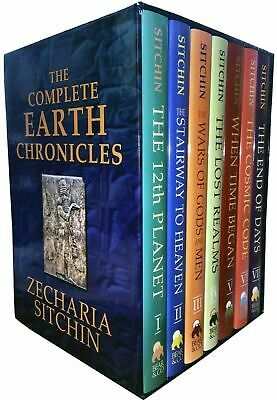 The Complete Earth Chronicles 7 Books Set Collection Zecharia Sitchin Hardback