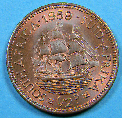 South Africa 1959 1/2 cent coin (0809)