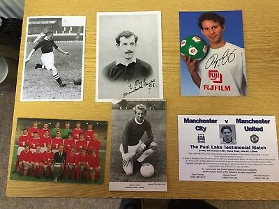 6 Assorted  Manchester United Postcard Photos