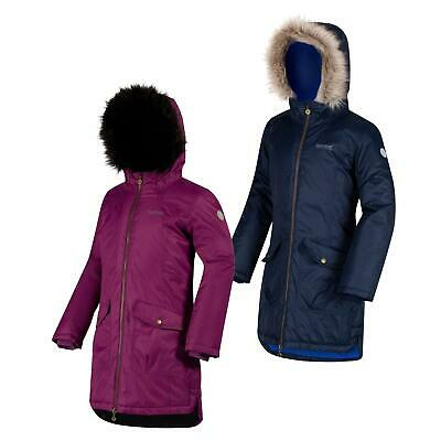 Regatta KIds Hollybank Waterproof Parka Jacket Boys Girls Hooded Coat