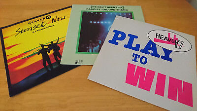 """Heaven 17 - 3 x UK 12"""" singles - Fascist Groove Thang, Play to Win, Sunset Now"""