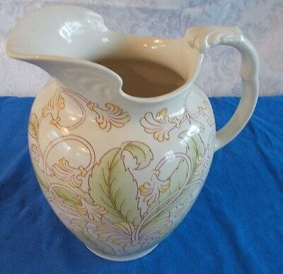 Antique Cauldron England Porcelain Victorian  Chamber Pitcher