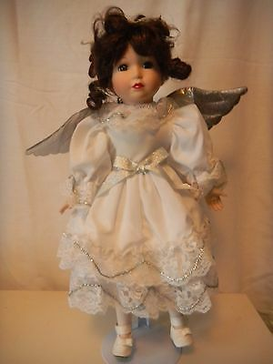 Beautiful     Angel    Porcelain Doll    16 in tall