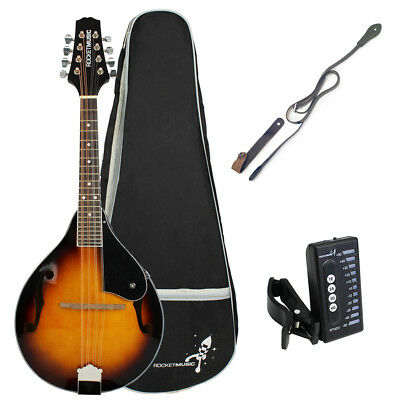 Rocket Traditional Bluegrass Mandolin with Gigbag, Tuner and Strap