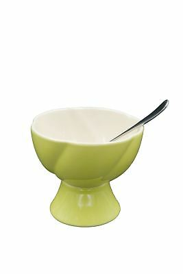 HomeArt - Dessert Bowl With Spoon - Green