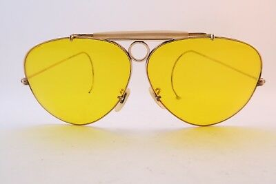 Vintage 50s gold filled B&L Ray Shooter sunglasses 1/10 12K GF USA KILLER *****