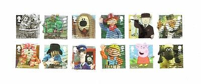 GB Stamps 2014 Classic Children's TV Self-adhesive Used Stamp Set SG 3552-3563