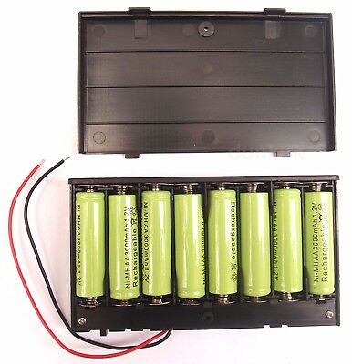 12 Volt power supply -  8x AA 1.5v Battery Holder / Case With On / Off Switch