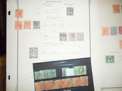 Australian States On Album Pages Un Circulated Club Book  Stock Cards Good Lot