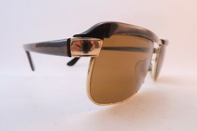 Vintage 50s gold filled and acetate sunglasses Essel REGATE France men's medium