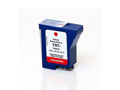 Pitney Bowes 797 - RED - EMPTY - 797-9, 797-M, 797-Q - #7970F-LD
