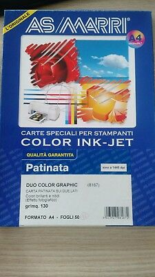 Carta Inkjet A4 130Gr 57Fg Duo Color Graphic 8167 As Marri
