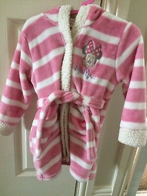 Baby Girls Dressing Gown Minnie Mouse Nightwear 18-23 Months