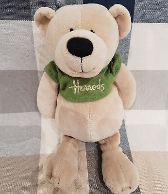 Harrods Soft Teddy ☆New Beanie  Soft Plush Toy Collectors