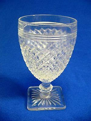"Miss America Clear Depression Juice Glass 4.75"" Anchor Hocking"