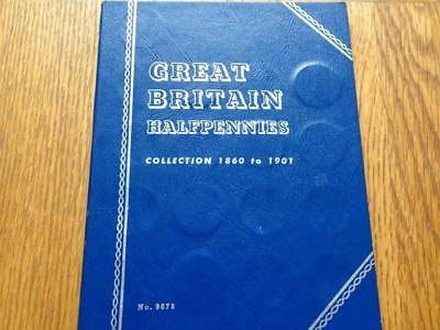Whitman Folder Victorian Half-Penny Collection 1860 To 1901 With 38 Coins